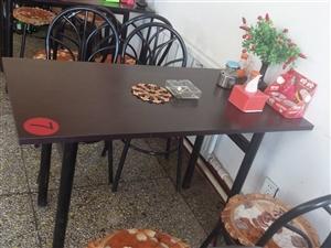快餐店组合桌椅出售