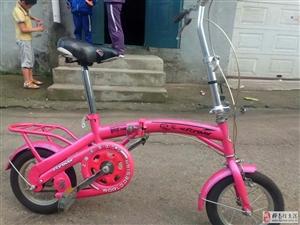 女士折叠自行车.九成新