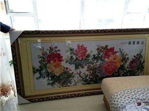 本人有一副成品的十刺绣,是富贵花开!低价出售
