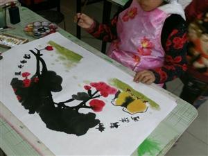 兰亭书画坊的小小国画家们