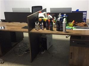 4人�k公桌9.9成新3.6米���h桌9.9成新2.4米老板桌9.9成新5p美的空�{9成新