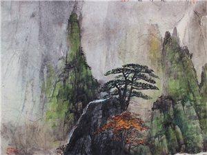 刘安健彩墨黄山