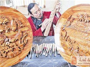 永乐桃木雕刻技艺传承人李艳军的创业路