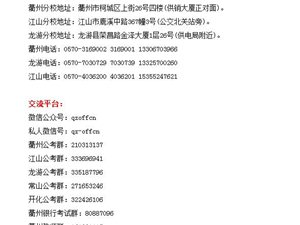 2016浙江衢州市属事业单位招聘相关相近专业资格审查通知(第一期)