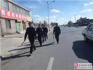 """瓜州县柳园镇:""""平安巡逻网""""为首届文博会保驾护航"""