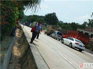 206国道平远到梅州段堵车,堵了好长,建议走高速