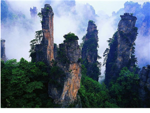 土家�L情,奇峰峻�X―��家界自然�L情之旅