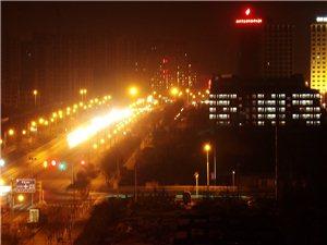 华灯初上,中华路汤河桥北至阴阳界