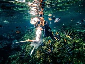 【古摄影。分享】拍水下婚纱照POSE推荐
