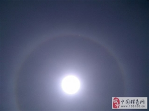 2016年5月23日长春市区天空出现【日晕】