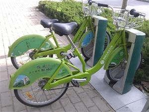 兖州街头惊现邹城的公共自行车