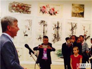 中国书画艺术展在莫斯科开幕