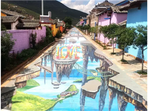 美高梅国际玫瑰小镇巨幅3D地画完成,申报两项吉尼斯,又要刷屏了