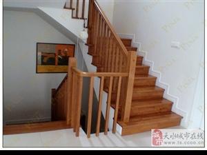 实木家用楼梯 室内实木楼梯 实木简约楼梯客户案例欣赏
