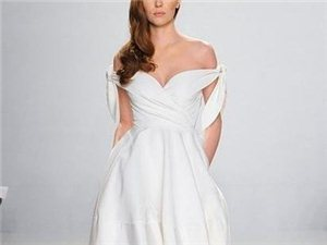 短款婚纱成为新趋势 新娘们快露出美腿吧