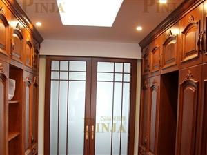 实木铁艺楼梯 实木橱柜 原木门 实木门 室内门客户案例欣赏