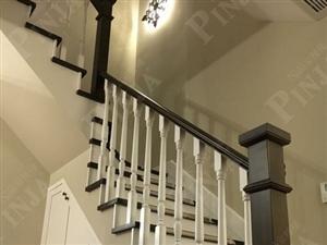 复式家用楼梯 简约实用实木楼梯 榉木定制楼梯客户案例欣赏