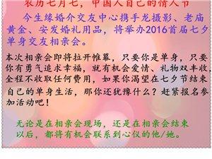 """今生缘婚介中心2016首届""""七夕浪漫寻缘""""单身交友联谊会报名开始啦"""