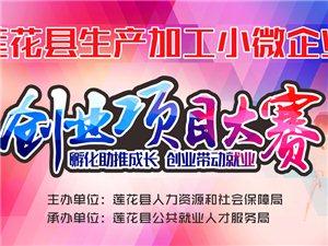 莲花县首届生产加工小微企业创业项目大赛活动