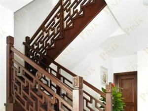 实木中式花格系列楼梯 实木楼梯 定制中式楼梯 中式案例欣赏