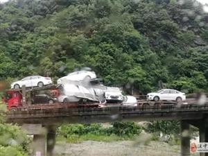 雨天路滑 西汉高速秦岭段接连发生车祸