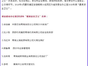 """青海省10名""""最美安全�l士""""名��"""