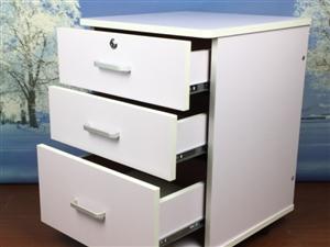 办公柜子带锁文件柜移动矮柜3抽屉柜档案柜活动柜资料柜床头柜