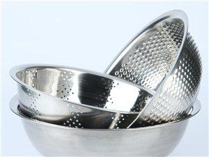 不锈钢米筛三件套洗米盆沥水盆和面盆果蔬盆淘米盆洗菜盆漏