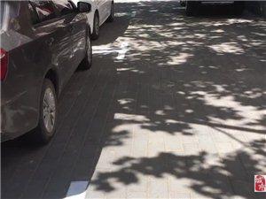 冀州建设街正在划分停车位