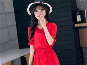 新款韩版女装短袖连衣裙宽松显瘦长款A字打底连衣裙
