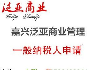 嘉兴五县两区提供专业高效申报报税申请一般纳税人的资
