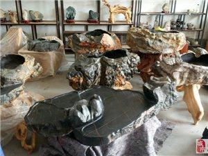 出售各類精品泰山奇石:崖柏根藝:崖柏茶臺:崖柏花架