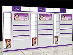 展柜天津展柜烤漆展柜木質展柜展示架化妝品展柜