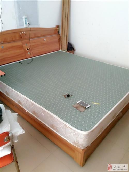 出售双人床及皖宝床垫一个