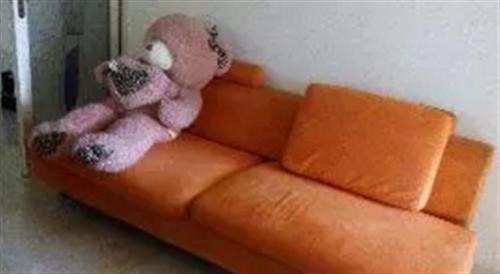 橘色布艺沙发