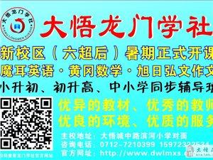 大悟龙门学社新校区(六超后)暑期正式开课