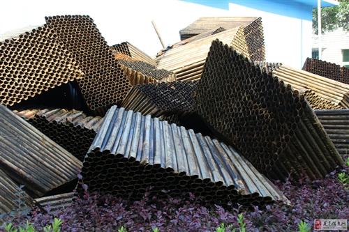 大量聚氯乙烯(PVC)蜂窩斜管舊料便宜出售