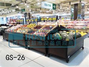 超市專用鋼木結合水果架 鐵木結合蔬菜架 靠墻架