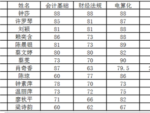 龙南恒立会计电脑培训2016年第一期考试效果良好