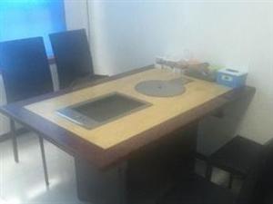 烤涮一体桌子火锅桌大理石桌面