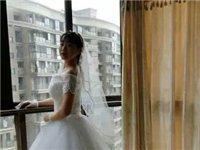 白色婚纱只穿一次300包邮转