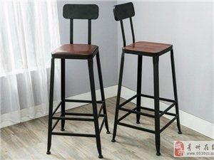 美式铁艺吧台椅星巴克桌椅高脚凳子