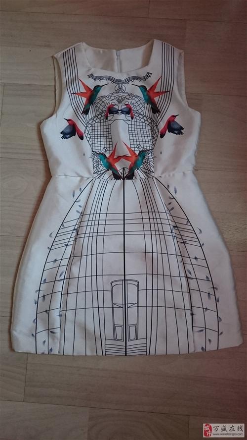 CCDD连衣裙欧式只下过一次水熨烫整洁