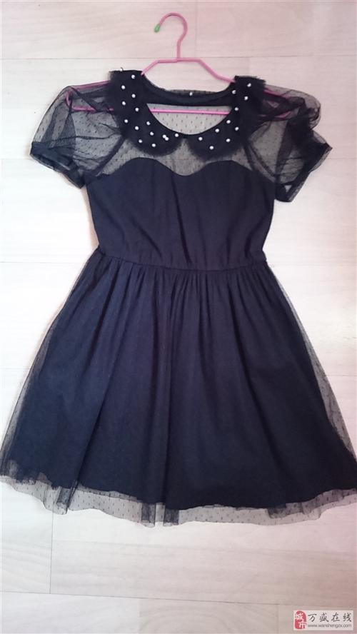 淑女屋连衣裙网纱和纯棉内衬
