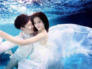 水下婚纱照怎么睁眼 美呆了