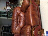 歐式羊皮沙發。