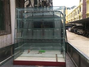 �T店到期出售���玻璃�p面�架,1.2米高1.2米��5深度40公分五��,�I的�r候是一��500�F在半�r出...